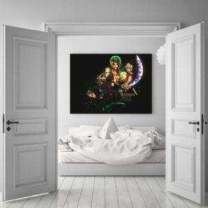 One Piece Roronoa Zoro Swordsman Timeline Black 1pc Wall Art