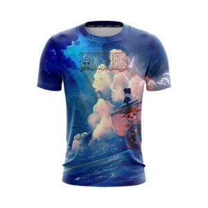 One Piece Sailing Going Merry Straw Hat Crew Ship T-Shirt