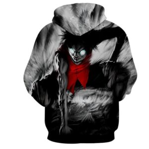 One Piece Scary Pirate King Luffy Gear Two Skill Hoodie