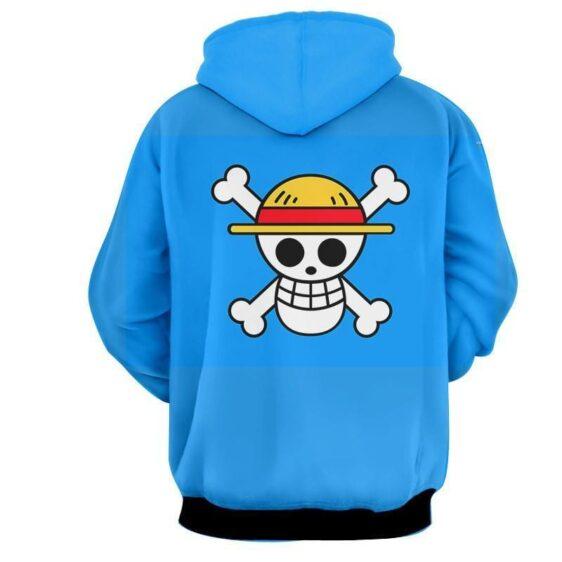 One Piece Zoro Law Sanji Straw Hat Pirate Symbol Anime Hoodie