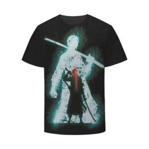One Piece Zoro Roronoa Swordman Pirate Bounty Hunter Vibrant Trending T-Shirt