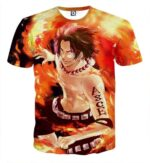 Portgas D. Ace Flamming Muscular Six-Packs Cool T-shirt
