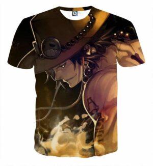 Portgas D. Ace Flamming Super Cool Attractive T-Shirt