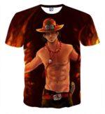 Portgas D. Ace Super Muscular Six-Packs Attractive T-shirt