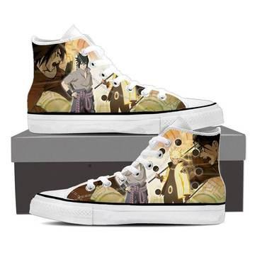 Sasuke and Naruto Sage Mode Legendary Ninjas Sneakers Shoes