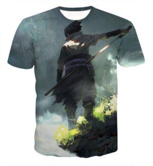 Sasuke Time for Battle Ultimate Sword Skill Naruto Friend Cool 3D T-shirt