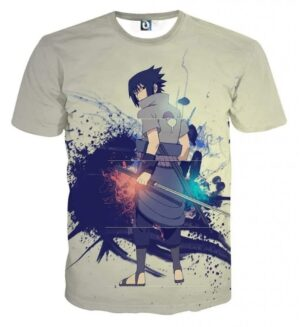 Sasuke Uchiha Art Work Design Japan Anime Dope T-Shirt