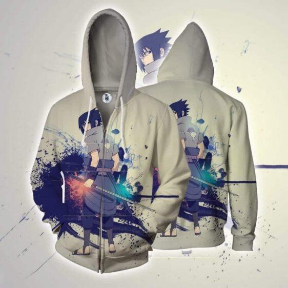 Sasuke Uchiha Art Work Design Japan Anime Dope Zip Up Hoodie