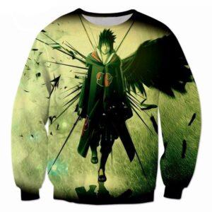 Sasuke Uchiha Darkness Avenger Naruto Anime Cool 3D Sweatshirt