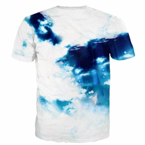 Sasuke Uchiha Tie Dye Style Naruto Abstract Blue Cool 3D T-Shirt