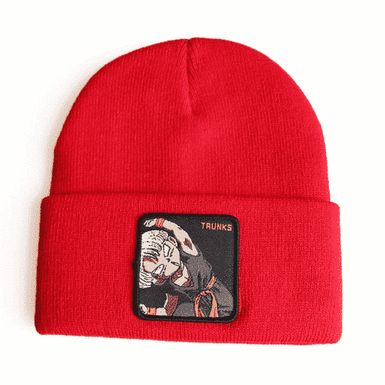 Trunks Funny Facial Expression Fusion Position Red Beanie