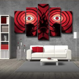 Uchiha Clan Sharingan Fire Ninjutsu 5pc Canvas Prints Wall Art