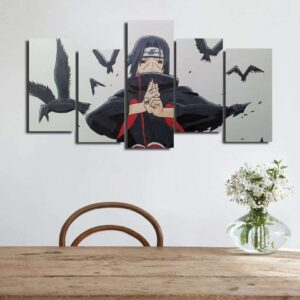 Uchiha Itachi Jutsu Hand Sign White Asymmetrical 5pcs Canvas