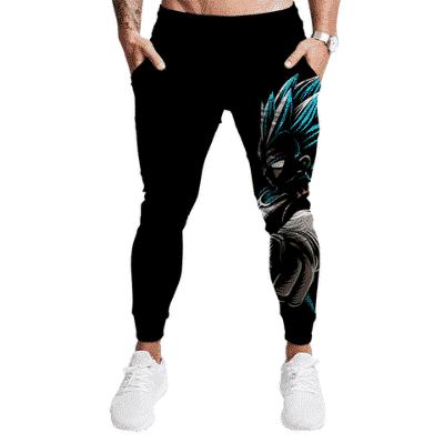 DBZ Sinister Super Saiyan Blue Vegeta Black Gym Sweatpants