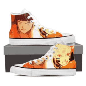 Naruto Six Path Sage and Hinata Hyuga Orange Sneakers Shoes