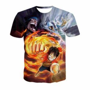 One Piece Pirate Warrior D.Luffy Marshall D.Teach Kuzan Characters T-shirt