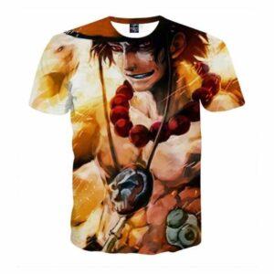 One Piece Fire Fist Ace Portrait Fan Art Dope T-shirt