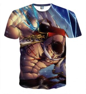 WhiteBeard Edward Newgate Fighting Super Cool T-shirt