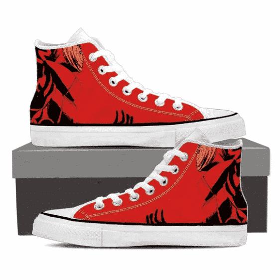 Naruto Tough Uchiha Obito Tobi Akatsuki Shinobi Red 3D Shoes