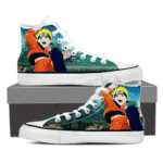 Naruto Kid Anime Fan Art Full Print Trendy 3D Sneakers Shoes
