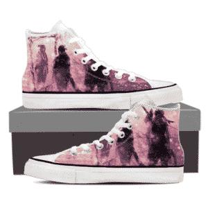 Naruto Anime Zabuza Haku Rain Ninja Cool Pink Sneakers Shoes