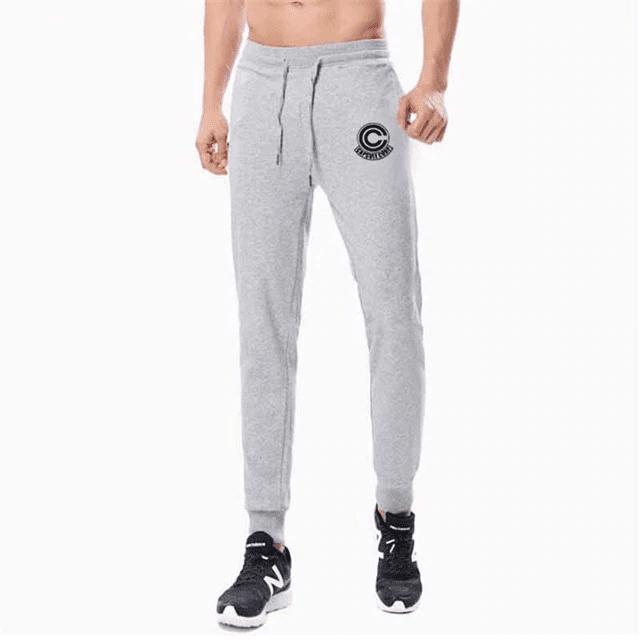 Dragon Ball Z Capsule Corp Grey Training Joggers Sweatpants