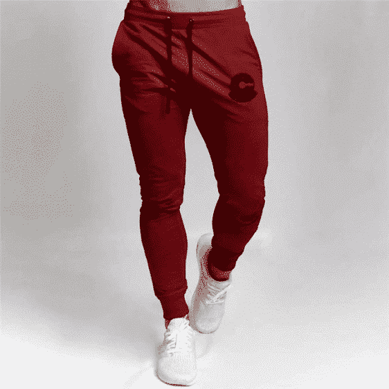 Dragon Ball Z Capsule Corp Red Training Joggers Sweatpants