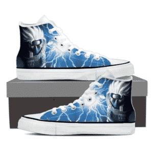 Kakashi Hatake Chidori Lightning Cut Vibrant Sneakers Shoes