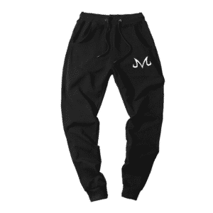 Dragon Ball Z White Majin Symbol Black Training Sweatpants