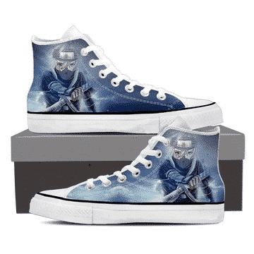 Kakashi Young Ninja Sharingan Fan Art Design Sneakers Shoes