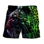 Extraordinary Tiger Side View Look Abstract Style Boardshorts