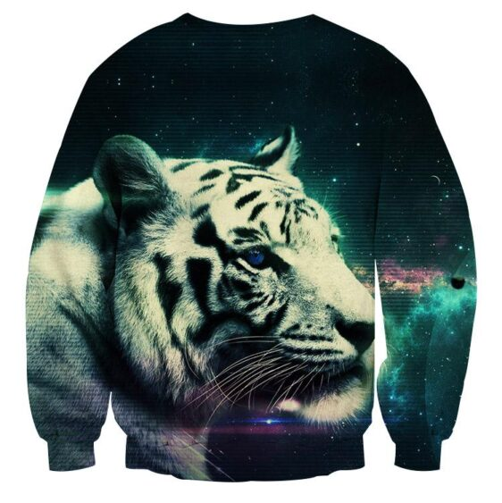 Calm And Dreamy Look Of Tiger Aesthetic Style Sweatshirt