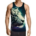 Calm And Dreamy Look Of Tiger Aesthetic Style Cool Tank Top