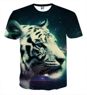 Calm And Dreamy Look Of Tiger Aesthetic Style T-Shirt