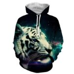 Calm And Dreamy Look Of Tiger Aesthetic Style Trendy Hoodie