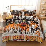 10th Naruto Omedetou Ninja Members Fan Art Bedding Set