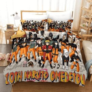 10th Naruto Omedetou Ninja Members Fan Art Bedding Set