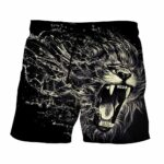 Creative Water Lion Attack Impressive Design Cool Shorts - Superheroes Gears