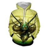 Magical Forest Tiger With Horns Neon Blue Marks Cool Hoodie