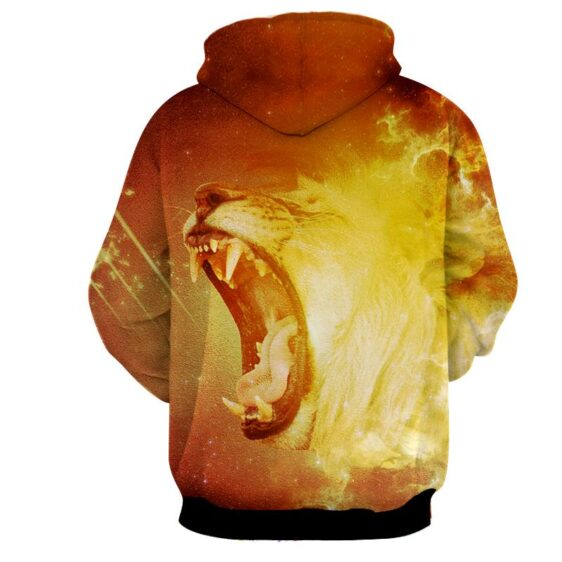 Enraged Scary Tiger Blazing With Fire Astonishing Hoodie