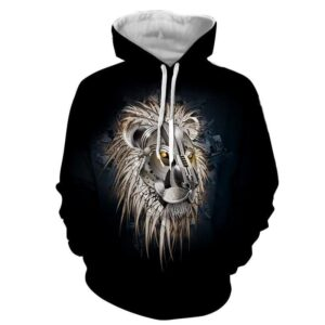 Armored Lion Warrior Impressive Design Streetwear Hoodie - Superheroes Gears