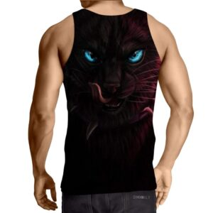 Black Cat Blue Eyes Amazing Cool Fabulous Unique Tank Top - Superheroes Gears