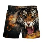 Extremely Angry Wild Tiger Stunning Design Boardshorts
