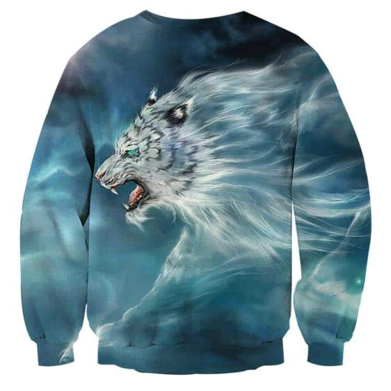 Scary Side View Look Of White Magical Tiger Epic Sweatshirt