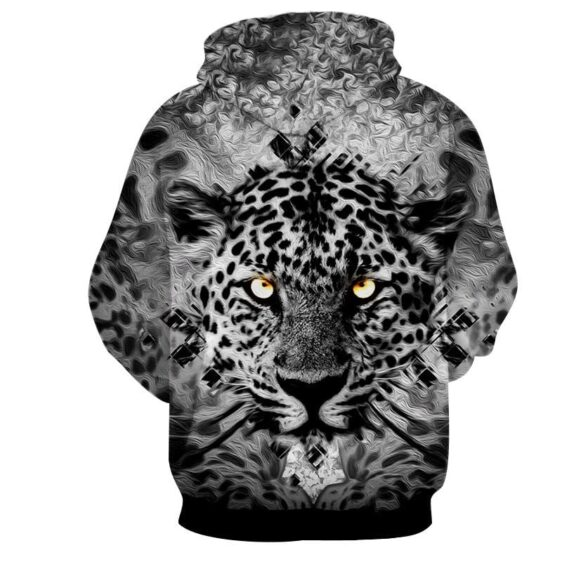Fierce Face Of Tiger With Beautiful Spots Artistic Hoodie