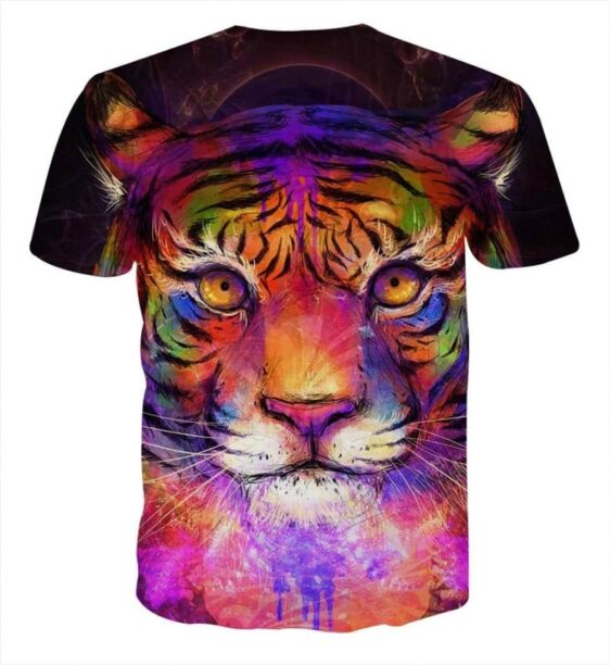 Colorful Painting Style Tiger Art Stunning Design T-Shirt