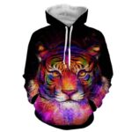 Colorful Painting Style Tiger Art Stunning Design Hoodie