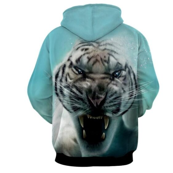 Displeased Scary Tiger Ready To Attack Stunning Hoodie