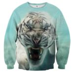 Displeased Scary Tiger Ready To Attack Stunning Sweatshirt