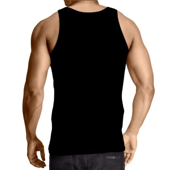 Angry Cat Face Full Print All Black Stylish Cool Tank Top - Superheroes Gears